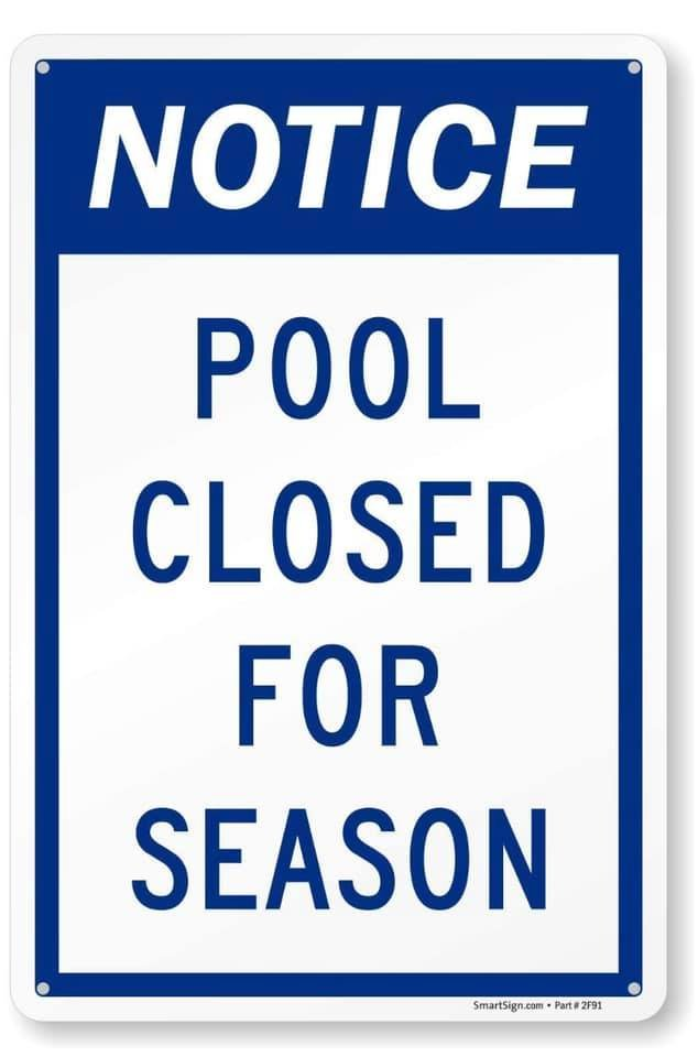 City Pool closed for the Season - 2020 Photo - Click Here to See